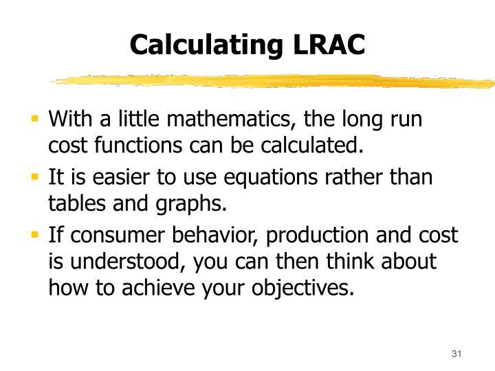 Calculating LRAC