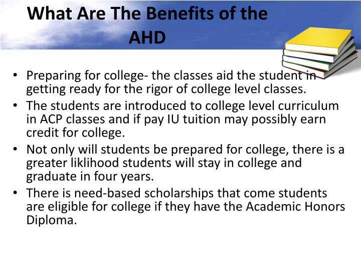 What Are The Benefits of the AHD