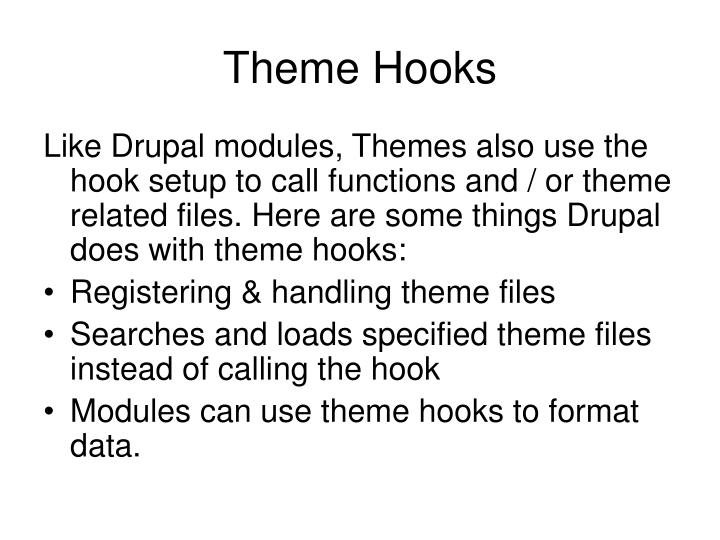 Theme Hooks