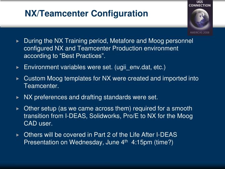 NX/Teamcenter Configuration
