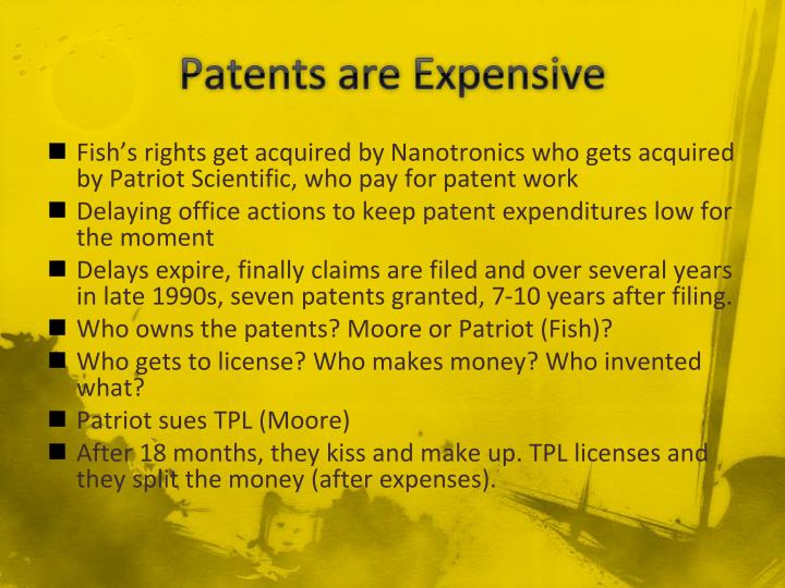 Patents are Expensive