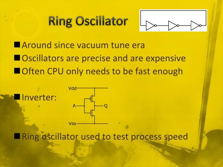 Ring Oscillator              .