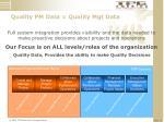 quality pm data quality mgt data