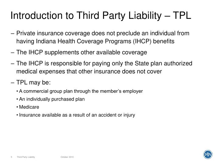 Introduction to Third Party Liability – TPL
