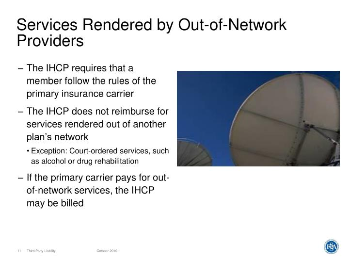 Services Rendered by Out-of-Network Providers