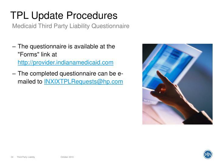 TPL Update Procedures