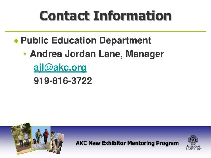 Public Education Department