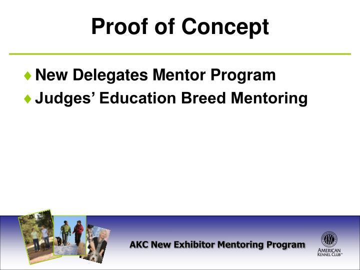 New Delegates Mentor Program