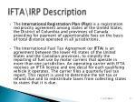 ifta irp description