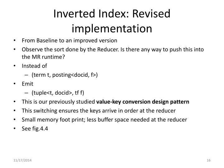 Inverted Index: Revised implementation