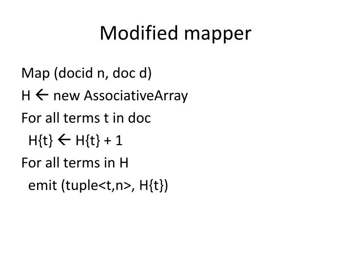 Modified mapper