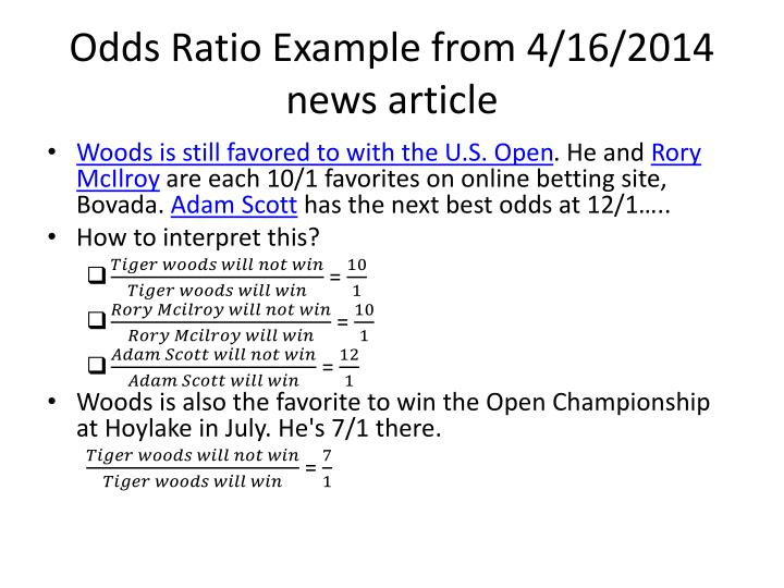 Odds Ratio Example from 4/16/2014 news article