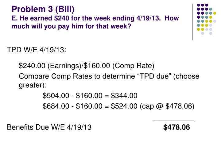 Problem 3 (Bill)