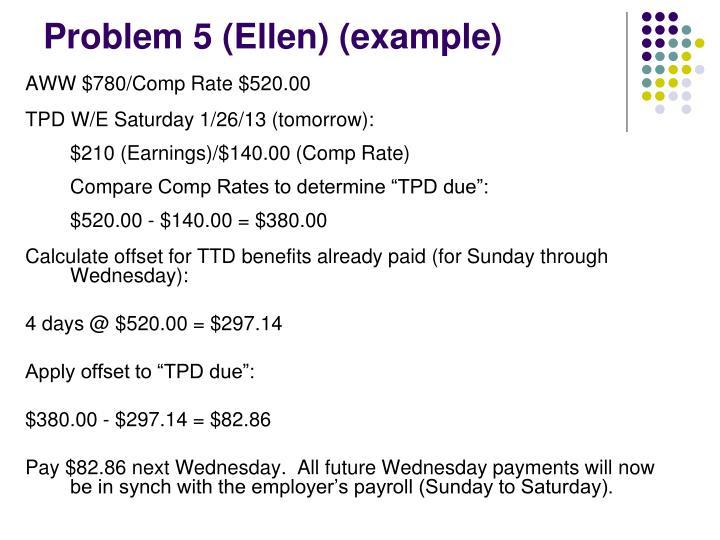 Problem 5 (Ellen) (example)
