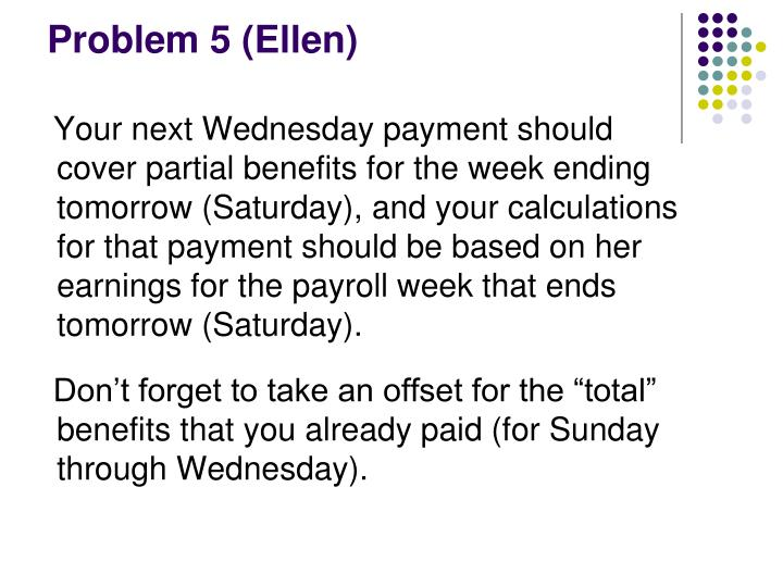 Problem 5 (Ellen)