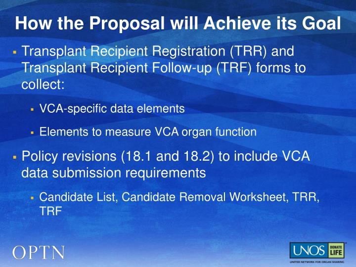 How the Proposal will Achieve its Goal
