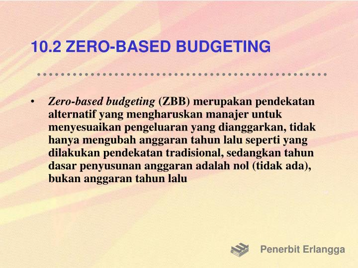 10.2 ZERO-BASED BUDGETING