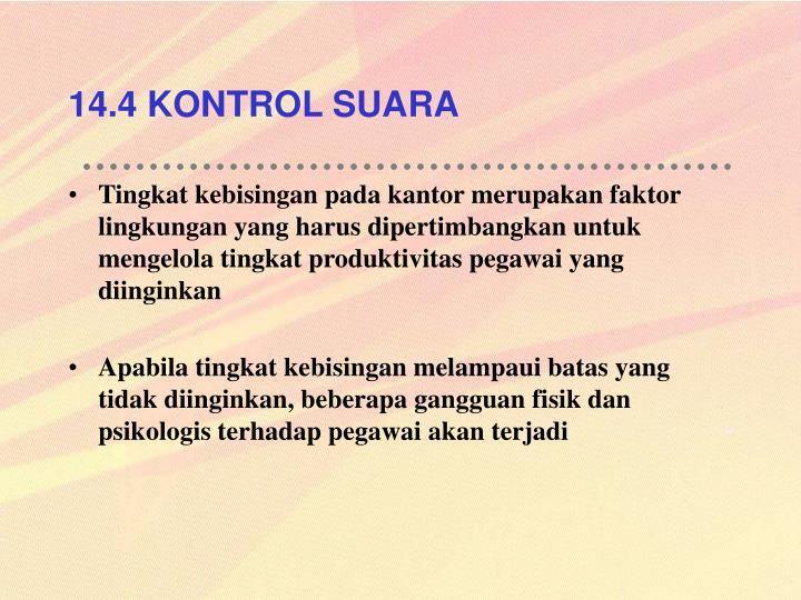 14.4 KONTROL SUARA