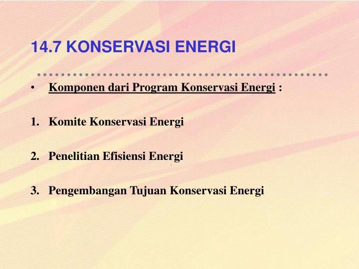 14.7 KONSERVASI ENERGI