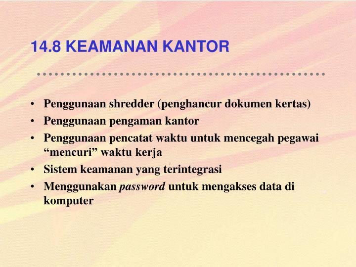 14.8 KEAMANAN KANTOR