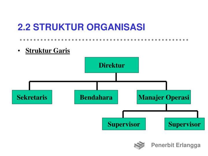2.2 STRUKTUR ORGANISASI