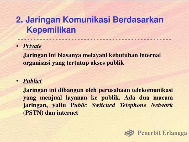 2. Jaringan Komunikasi Berdasarkan Kepemilikan