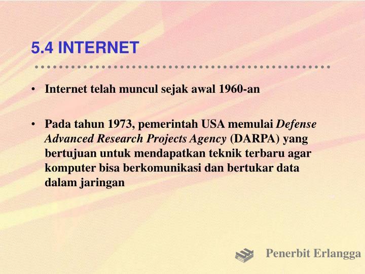 5.4 INTERNET