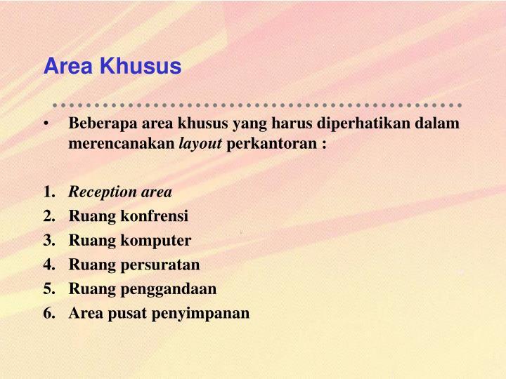 Area Khusus