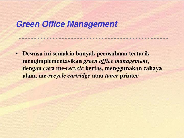 Green Office Management