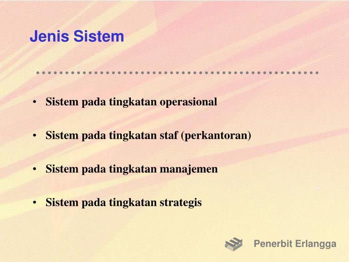 Jenis Sistem