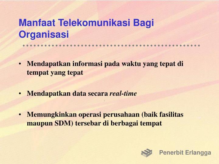 Manfaat Telekomunikasi Bagi Organisasi