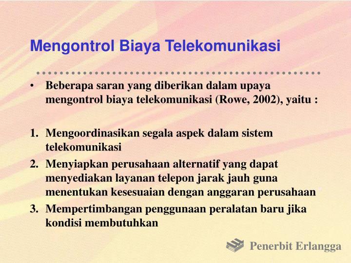 Mengontrol Biaya Telekomunikasi