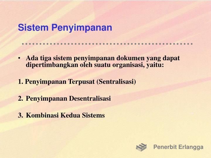 Sistem Penyimpanan