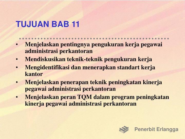 TUJUAN BAB 11