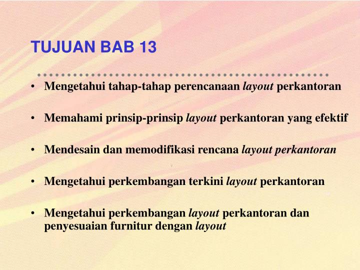 TUJUAN BAB 13