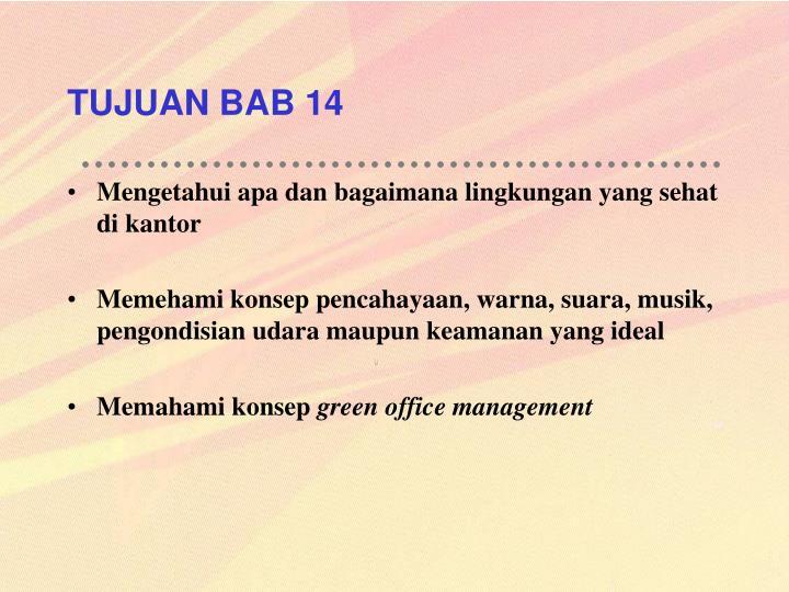 TUJUAN BAB 14