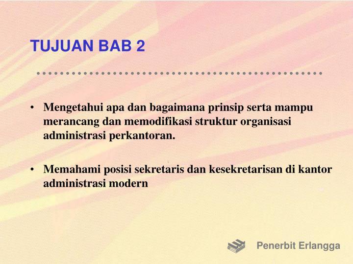 TUJUAN BAB 2