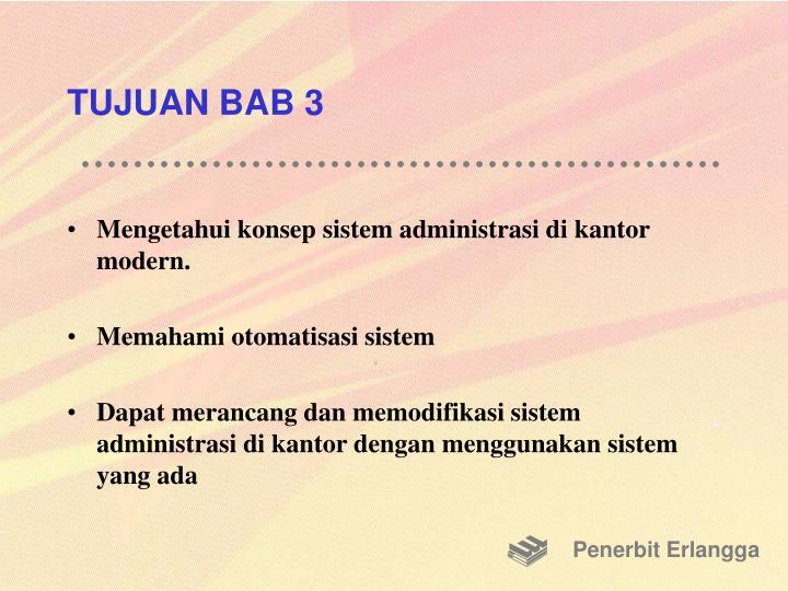 TUJUAN BAB 3