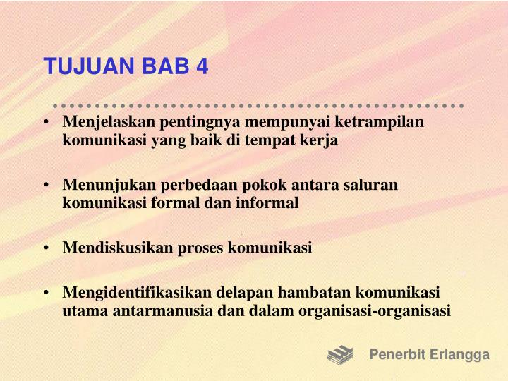 TUJUAN BAB 4