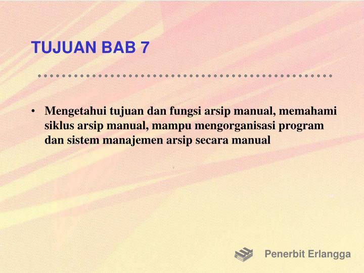 TUJUAN BAB 7