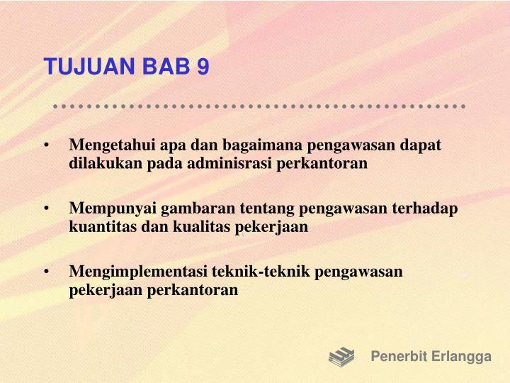 TUJUAN BAB 9
