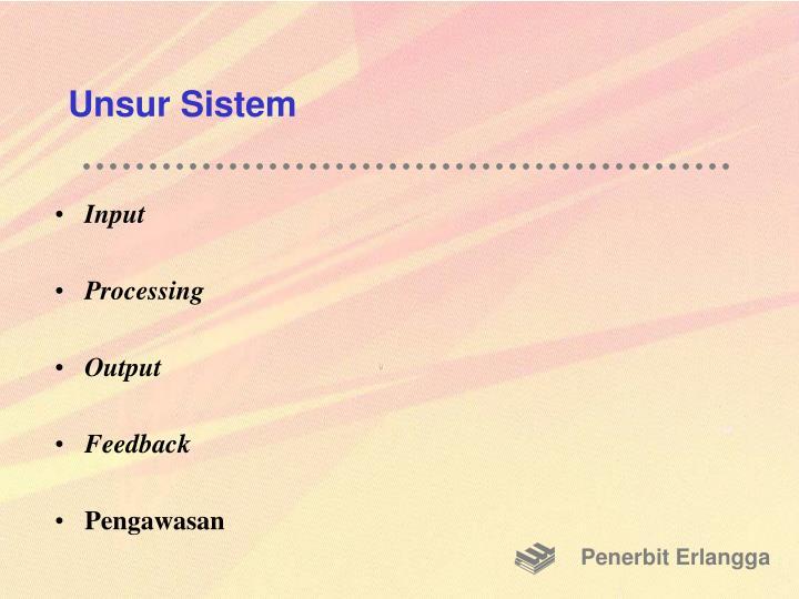 Unsur Sistem
