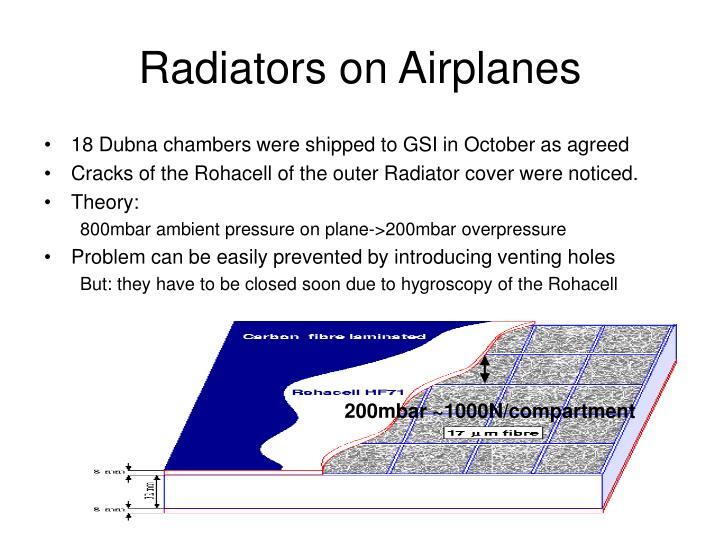 Radiators on airplanes