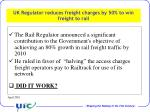 uk regulator reduces freight charges by 50 to win freight to rail