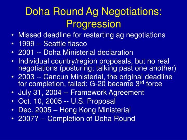 Doha Round Ag Negotiations:
