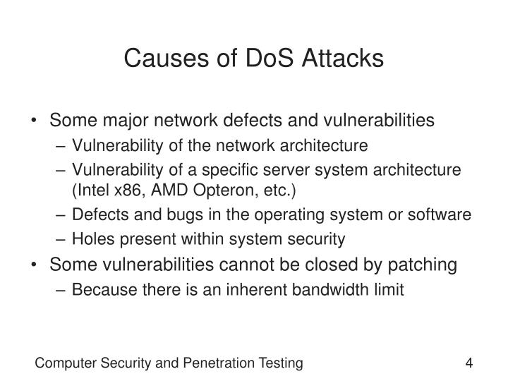 Causes of DoS Attacks