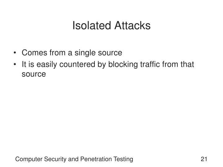 Isolated Attacks