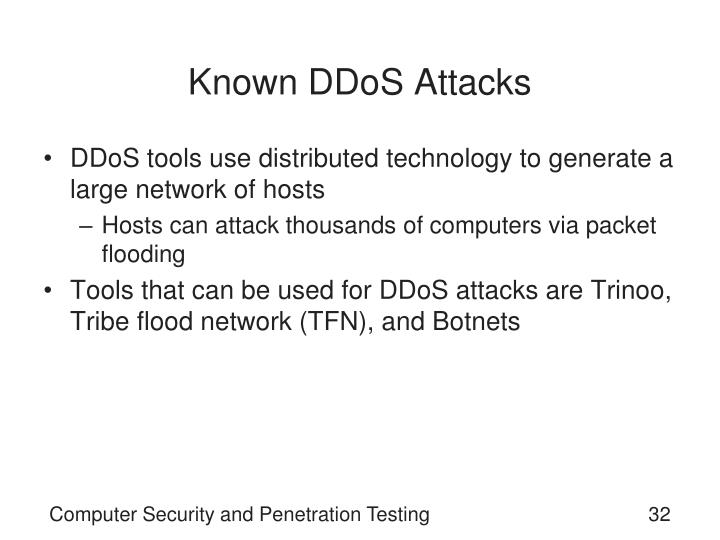 Known DDoS Attacks