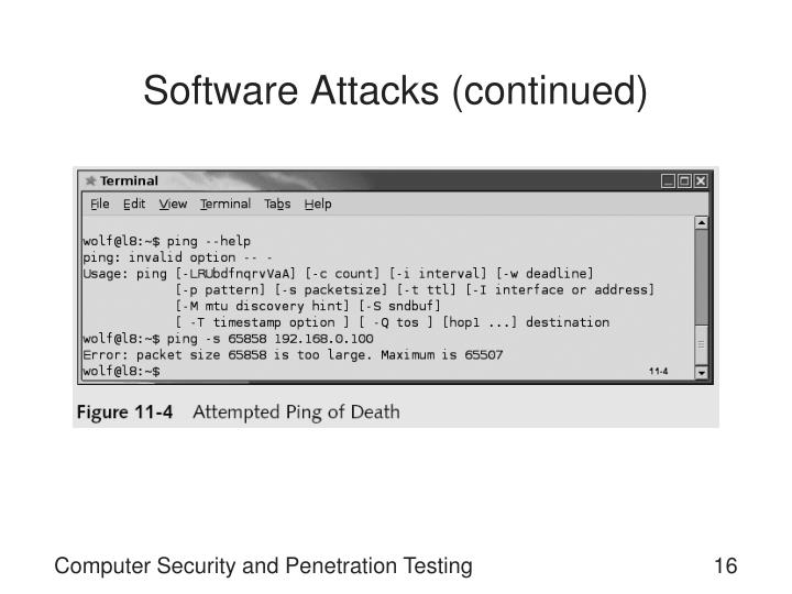 Software Attacks (continued)