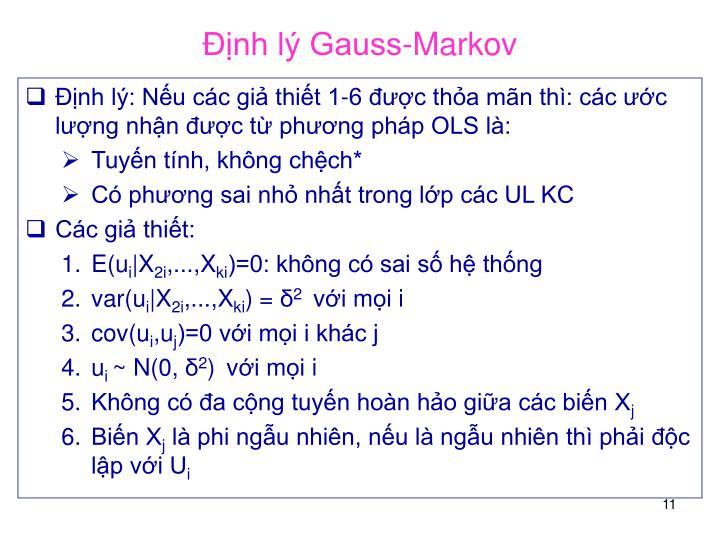 Định lý Gauss-Markov